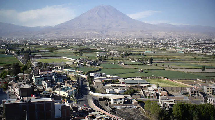 Beautiful view of Arequipa, Peru