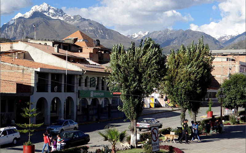 Huaraz, beautiful city 3000 meters above the sea level