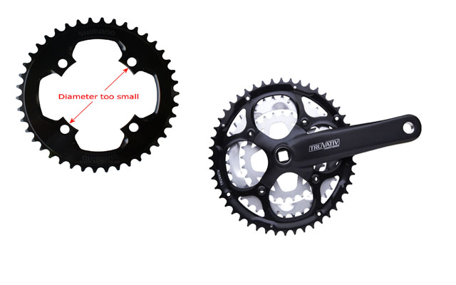 Post Image: Shimano Chainring on Truvativ, SRAM, FSA Crank