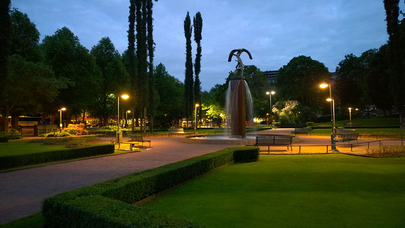 Cycling in Finland: Walking around a Kotka city
