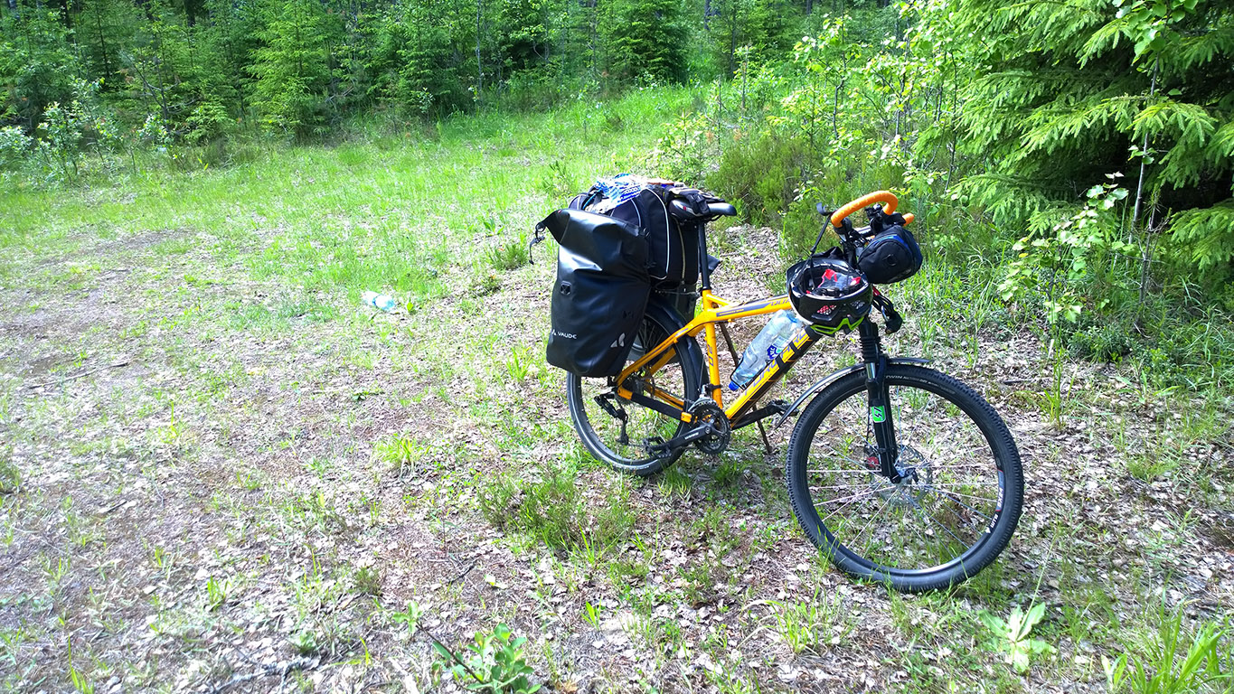 Cycling in Finland My touring bicycle and kickstand